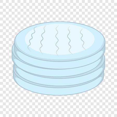 Cotton disc icon, cartoon style Stock Vector - 123702887