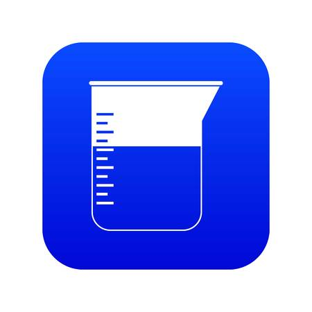 Measuring cup icon digital blue for any design isolated on white vector illustration