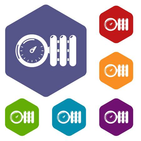 Manometer icons vector hexahedron Illustration