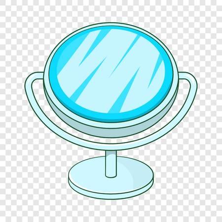 Makeup mirror icon. Cartoon illustration of mirror vector icon for web design
