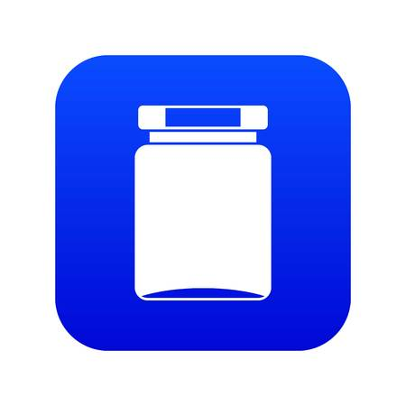 Jar icon digital blue