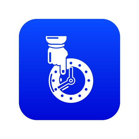 Save time icon blue vector isolated on white background Illustration