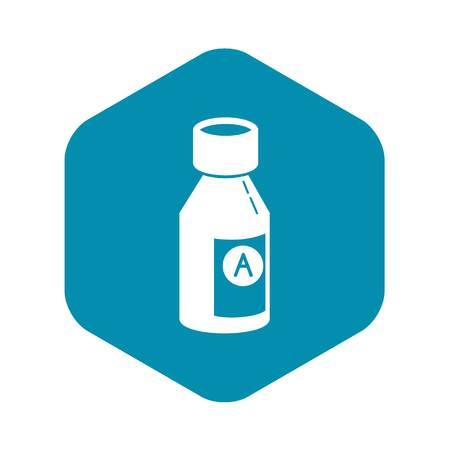 Syrup bottle icon. Simple illustration of syrup bottle vector icon for web design isolated on white background