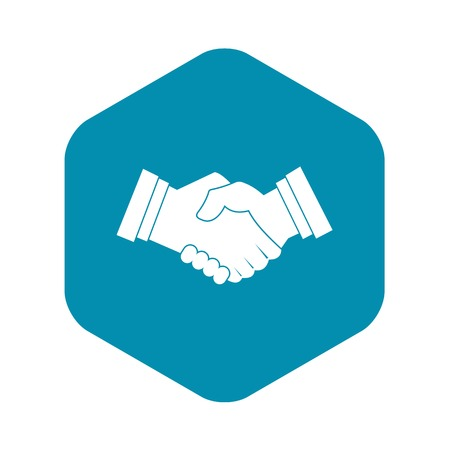 Business handshake icon. Simple illustration of business handshake vector icon for web