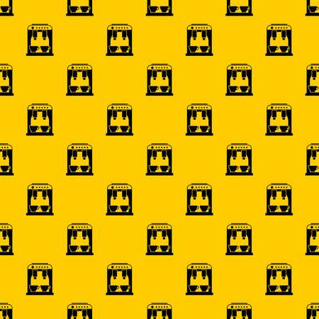Coffee machine pattern seamless vector repeat geometric yellow for any design Stock Illustratie