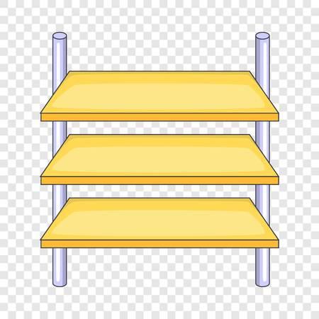 Shop shelves icon. Cartoon illustration of shop shelves vector icon for web design Illustration