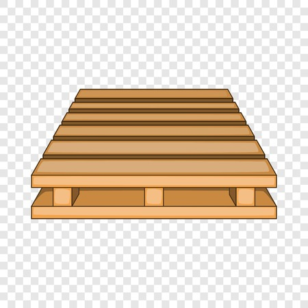 Wooden palette icon. Cartoon illustration of wooden palette vector icon for web design 向量圖像