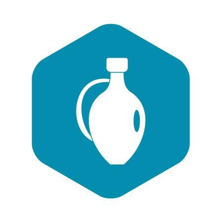 Clay jug icon. Simple illustration of clay jug vector icon for web Foto de archivo - 130241058
