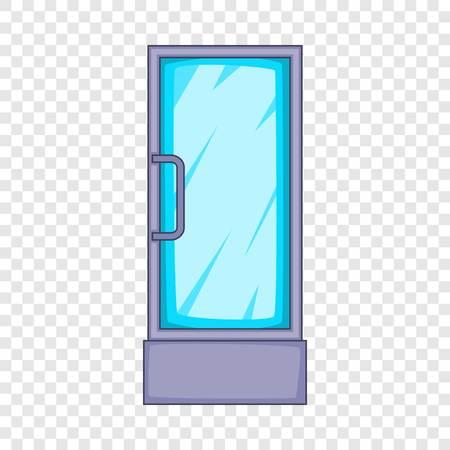 Refrigerator showcase icon. Cartoon illustration of refrigerator showcase vector icon for web design