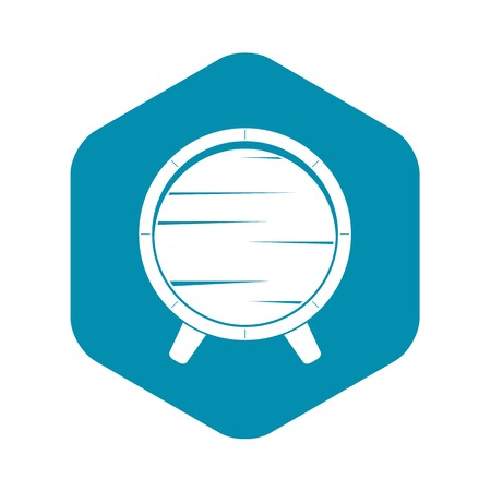 Barrel on legs icon, simple style Illustration
