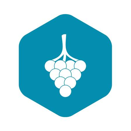 Grapes on the branch icon, simple style