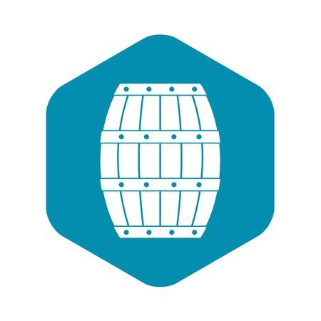 Barrel icon, simple style