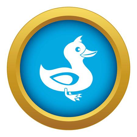 Black duck icon blue vector isolated on white background for any design Иллюстрация