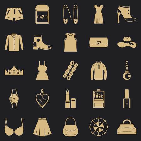 Possessions icons set. Simple set of 25 possessions vector icons for web for any design Illustration