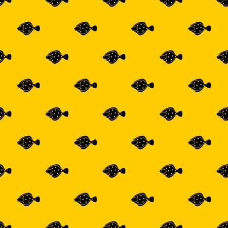 Flounder fish pattern seamless vector repeat geometric yellow for any design Illustration
