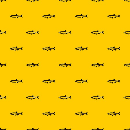 Herring fish pattern seamless vector repeat geometric yellow for any design
