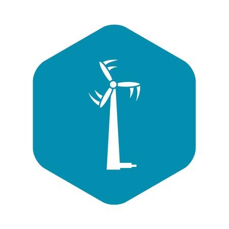 Modern wind turbine icon, simple style
