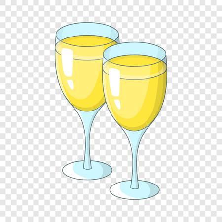 Wedding glasses icon. Cartoon illustration of wedding glasses vector icon for web design Ilustração