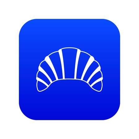 Croissant icon digital blue