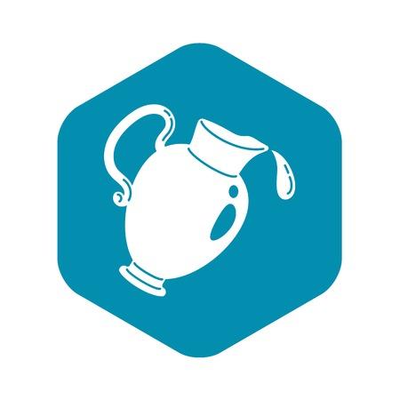 Wine jug icon, simple style