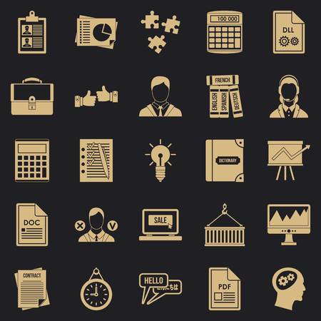 Paper icons set. Simple set of 25 paper vector icons for web for any design Illustration
