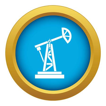 Oil rig icon blue vector isolated Illustration