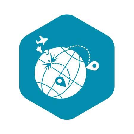 Global war migration icon. Simple illustration of global war migration vector icon for web design isolated on white background Illustration