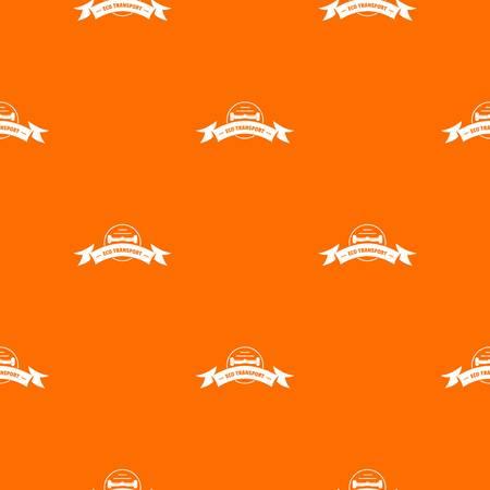 Eco gyro scooter pattern vector orange Archivio Fotografico - 125063580