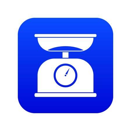 Kitchen scales icon digital blue Archivio Fotografico - 125063654