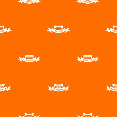 Power gyro scooter pattern vector orange Archivio Fotografico - 125063776