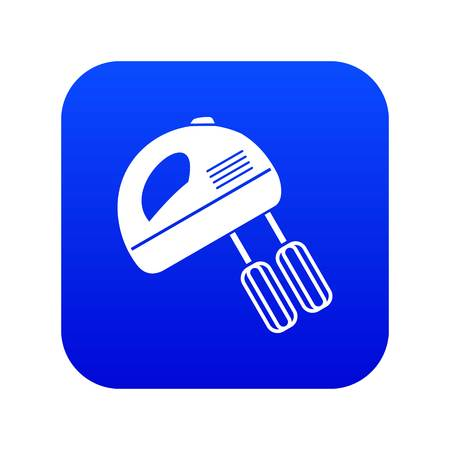 Electric mixer icon digital blue for any design isolated on white vector illustration