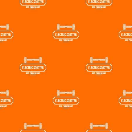 Device gyro scooter pattern vector orange Archivio Fotografico - 125063928
