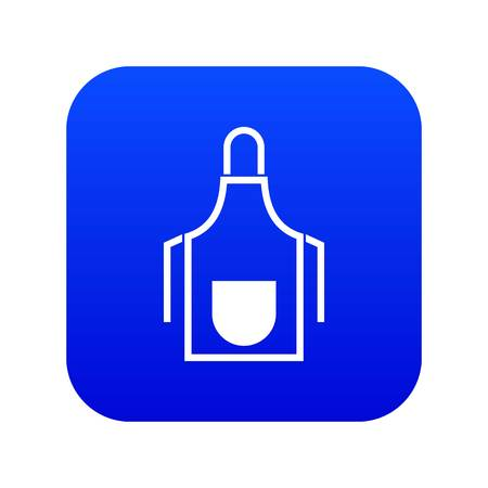 Kitchen apron icon digital blue for any design isolated on white vector illustration