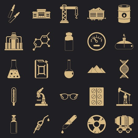 Processing factory icons set. Simple set of 25 processing factory vector icons for web for any design