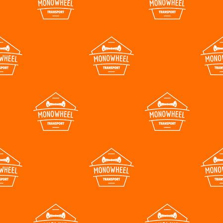 Mono wheel pattern vector orange for any web design best Archivio Fotografico - 125063949