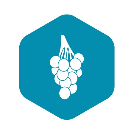 Grapes icon. Simple illustration of grapes vector icon for web