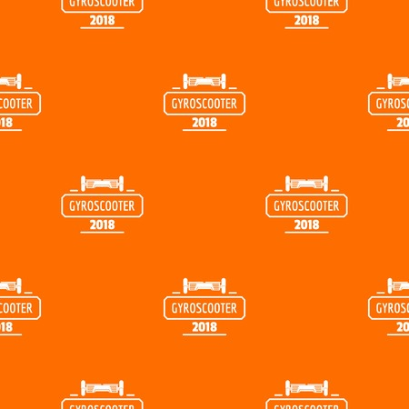 Travel gyro scooter pattern vector orange for any web design best Archivio Fotografico - 125064053