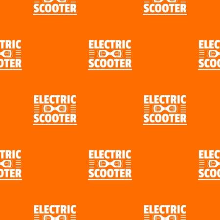 Urban gyro scooter pattern vector orange for any web design best Archivio Fotografico - 125064163