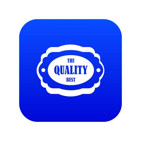 The quality best label icon digital blue for any design isolated on white vector illustration Stock Illustratie