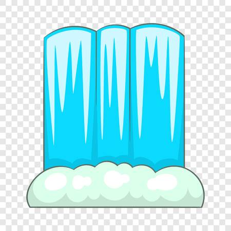 Waterfall icon. Cartoon illustration of waterfall vector icon for web
