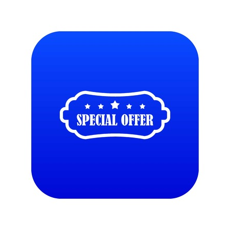 Special offer label icon digital blue for any design isolated on white vector illustration