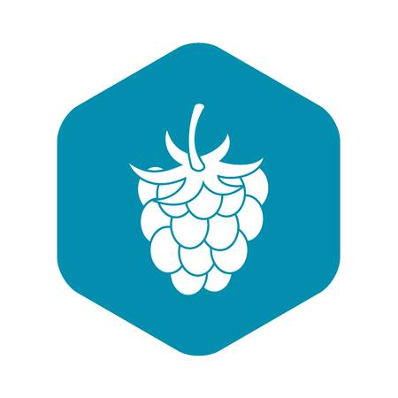 Raspberry or blackberry icon, simple style