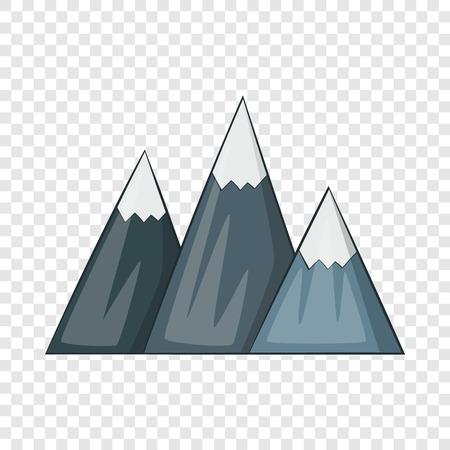 Mountain icon, cartoon style