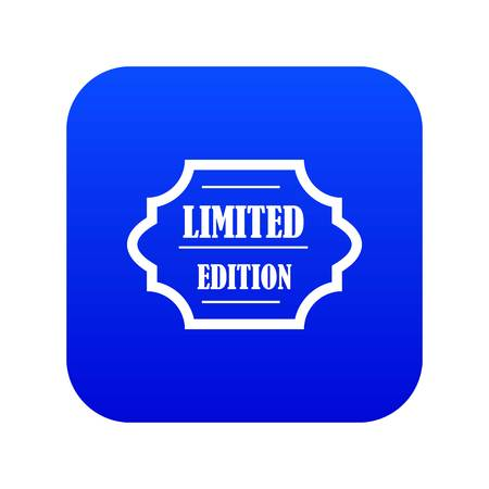 Limited edition icon digital blue for any design isolated on white vector illustration Stock Illustratie