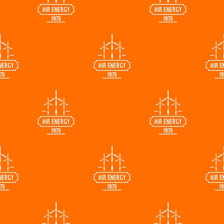 Air energy pattern vector orange