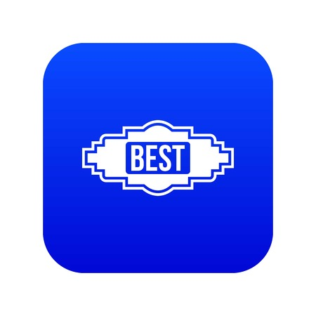 Best label icon digital blue for any design isolated on white vector illustration