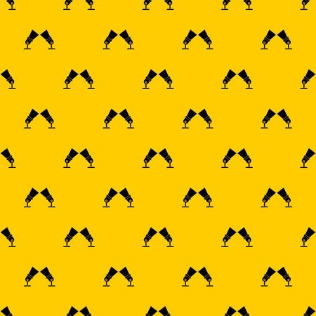 Floodlights pattern seamless vector repeat geometric yellow for any design