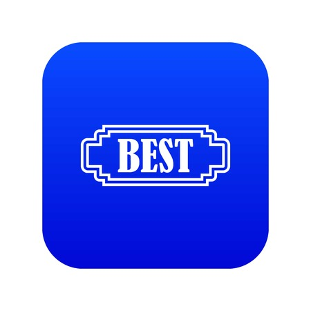 Best rectangle label icon digital blue for any design isolated on white vector illustration