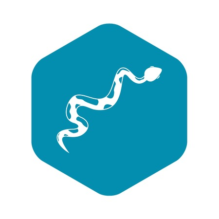 Creeping snake icon. Simple illustration of creeping snake vector icon for web