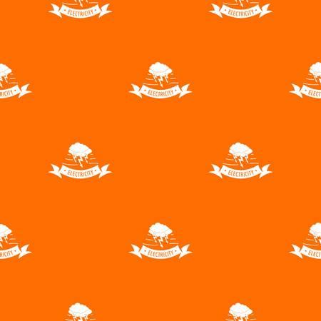 Wind energy pattern vector orange 矢量图像
